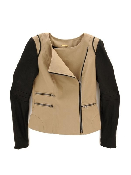 REBECCA MINKOFF Linda jacket with leather sleeves