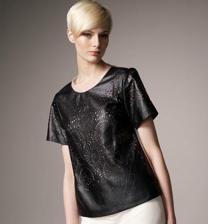 Phillip Lim Laser-cut leather top