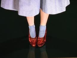 Ruby slippers in Wizard of OZ