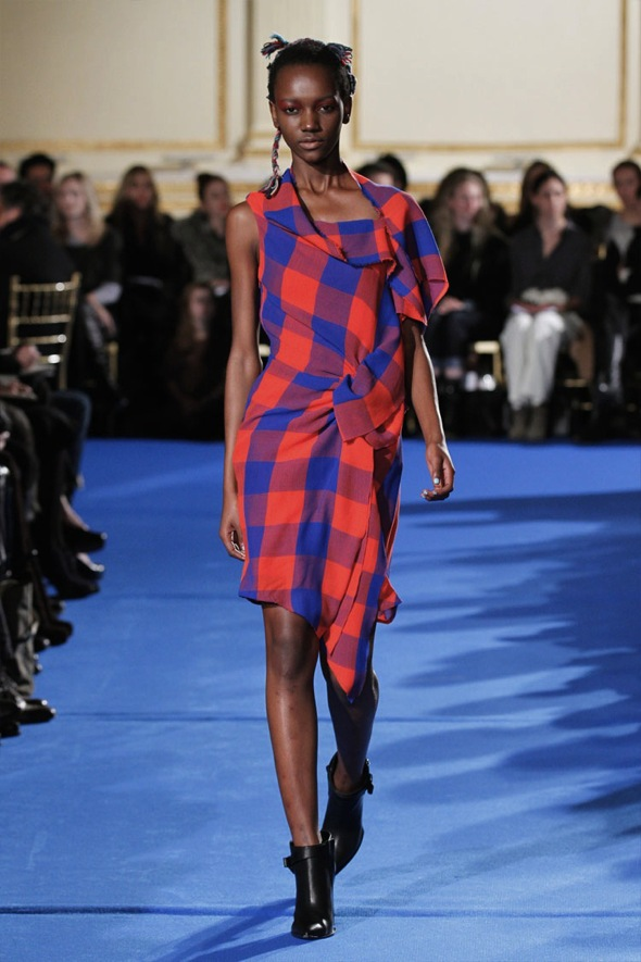 Thakoon assymetrical plaid dress