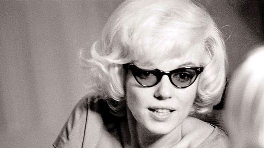 Marilyn Monroe  in cat eye glasses