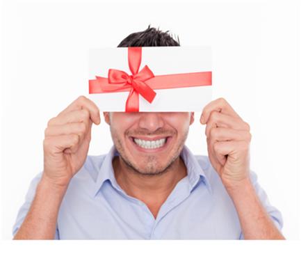 Man-Holding-Gift-Envelope