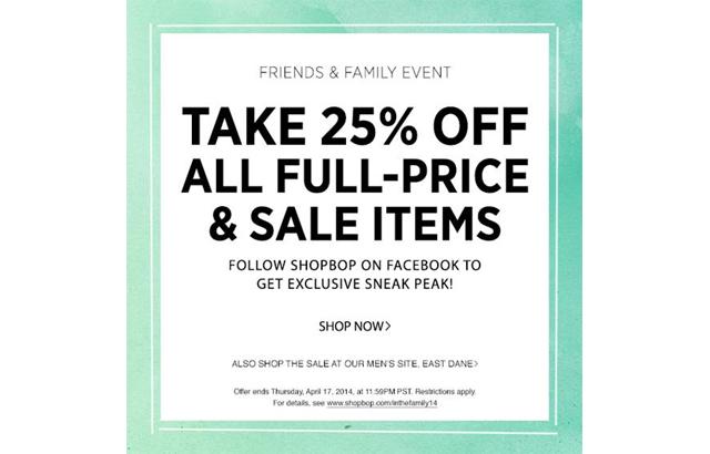 Shopbop sale event